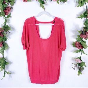 Torrid | pink cross-bottom sweater blouse